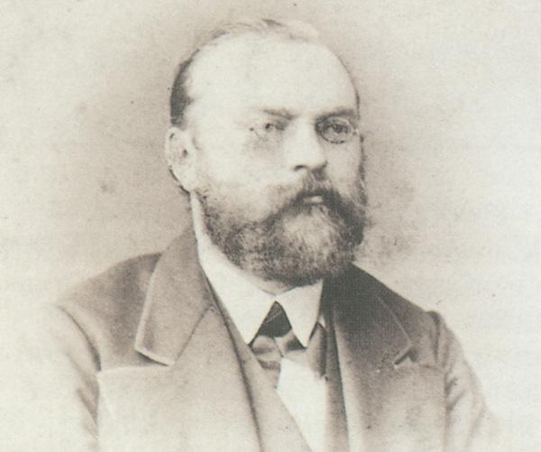 Ferdinand Stuttmann war 1863 der erste Vorsitzende der Rüsselsheimer Volksbank.